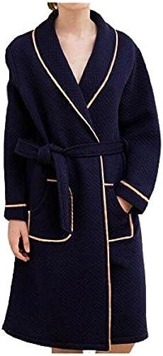 CanKun Nouveau Hommes Femmes100% Coton Peignoir Peignoir Robe Chale Col Peignoir Parfait pour La Maison Loisirs Douche Baignoire, 72301- bleu, XL