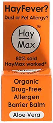 Haymax Aloe Vera Organic Pollen Balm For Hayfever 5 ml