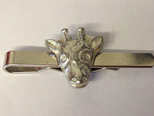 GIFTSFORALL Derbyshire UK GT234 Krawattenklammer mit Giraffenkopf, aus feinem englischen Zinn