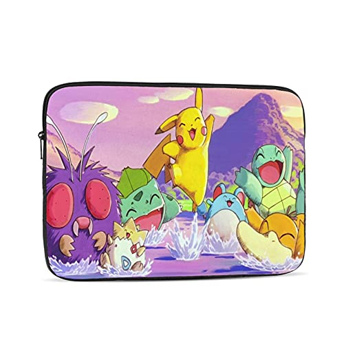 Pokemon Laptop Case Laptop Bag Protective Bag, Portable Computer Bag, Laptop Bag Shockproof Briefcase Multifunctional Handbag15 Inch