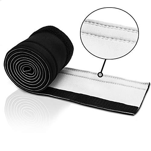 Optimierte Version - Kabelorganizer, Neopren Kabelschlauch Klettverschluss, Mehrfach genäht & geklebt, 150cm x 10cm, schwarz