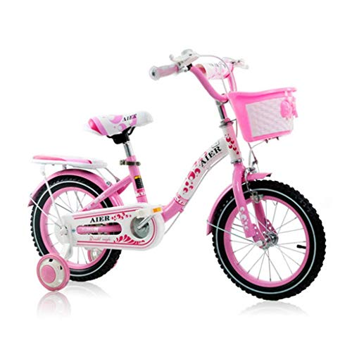 Review Of Children's Bicycle Freestyle Girl Boy Princess Pink Kids Bike Size 12, 14, 16 with stab...