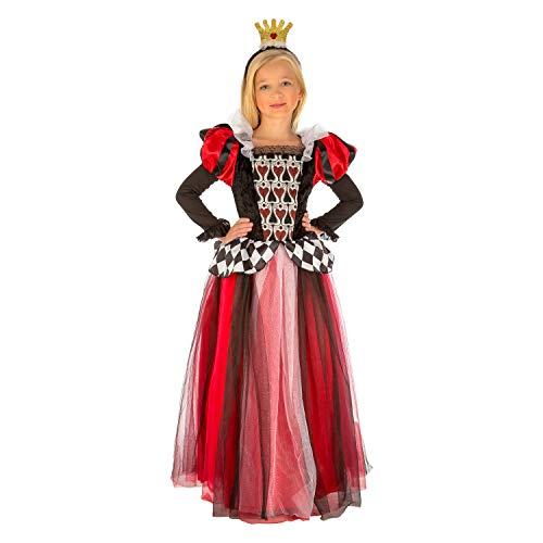 My Other Me Me-204111 Disfraz Reina de corazones para niña, 7-9 años (Viving Costumes 204111)