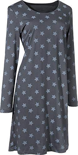 laritaM Nachthemd Single-Jersey Graphit Größe 44