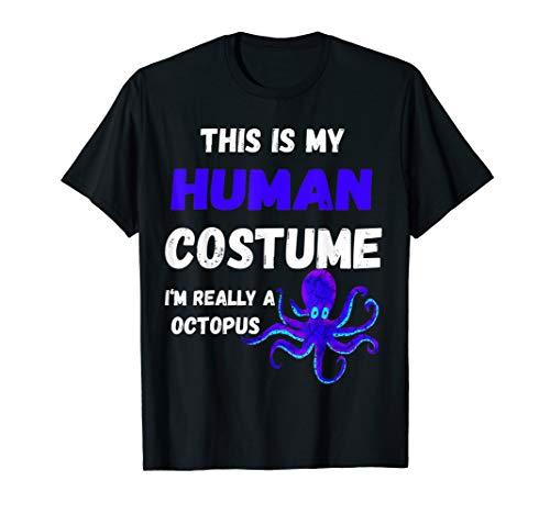 Oktopus Kraken Tentakel Fisch Menschliches Kostüm T-Shirt
