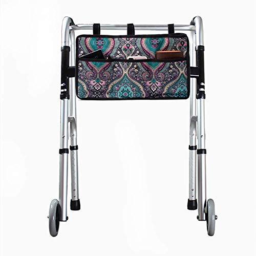 41aQQmf7IvL. SL500  - Bolsa de almacenamiento, bolsa lateral para silla de ruedas, universal y portátil, impermeable, accesorio para silla de ruedas, adecuado para andador, andador, scooter.