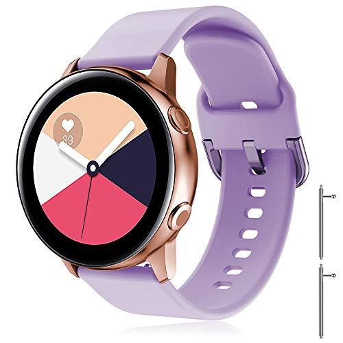 TOPsic Cinturino Galaxy Watch Active 2 40mm 44mm Active Galaxy Watch 42mm Gear S2 Classic Gear Sport Vivomove HR Vivoactive 3 Forerunner 245 645, 20mm Cinturino di Ricambio Silicone Braccialetto