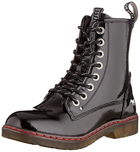 MUSTANG Damen 1235-503-9 Combat Boots, Schwarz (Schwarz 9), 40 EU