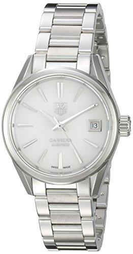 TAG Heuer Women's 'Carrera' Swiss Automatic Stainless Steel Dress Watch, Color:Silver-Toned (Model: WAR2411.BA0776)