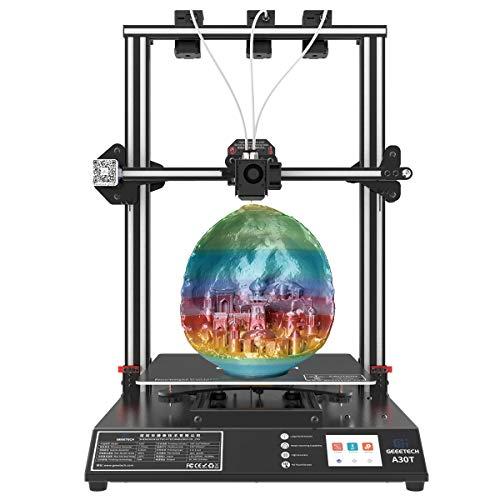 GEEETECH Stampante 3D A30T con stampa mista, design a tre estrusioni, kit fai da te a montaggio rapido, dimensioni di stampa 320 mm x 320 mm x 420 mm