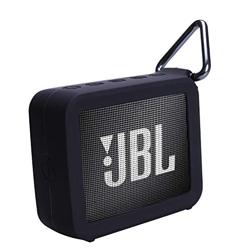 XANAD Silicone Protective Case for JBL GO 2 Speaker Wearable Lightweight Bag(Black)