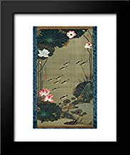Lotus Pond and Fish 15x18 Framed Art Print by Ito Jakuchu