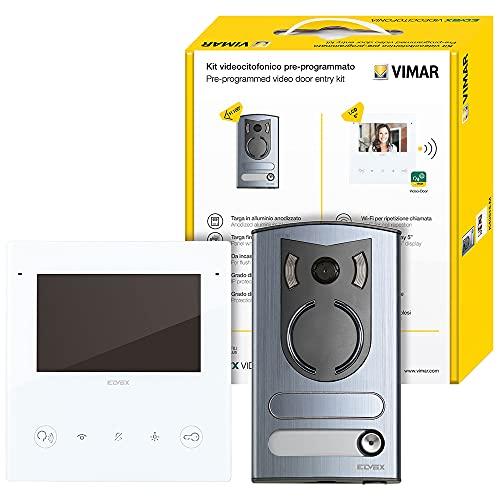 Vimar ELVOX K40515.M - Kit de videoportero monofamiliar, 2 cables, conexión WiFi