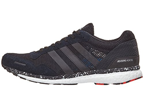 adidas Originals Adizero Adios 3 - Tenis de correr para hombre, rojo (Alta resolución rojo/negro/azul brillante), 39.5 EU