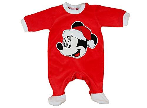 Kleines Kleid Mädchen Baby-Strampler Weihnachtsstrampler Baby Weihnachtsoutfit Langarm Fuß WARM dick Nicki Plüsch Minnie Mouse GRÖSSE 56 62 68 74 rot Neugeborene 0 3 6 9 Monate Geschenkidee Größe 56