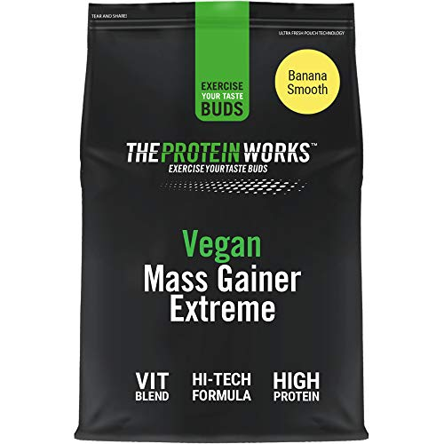 The Protein Works Mass Gainer Vegano Extreme | Plátano Suave 2000 g