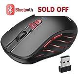 VicTsing  Souris Bluetooth Portable Silencieuse PC Multidispositif, Souris sans Fil USB Ordinateur à 6 Boutons pour Mac OS, Windows, Android, 800/1200/1600/2000/2400 dpi, 36 Mois en Veille (Bleu) (Personal Computers)