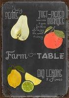 簡素な雑貨屋 Blackboard Fruit アメリカン 雑貨 メタルサイン ヴィンテージ風 ライセンスプレート メタルプレート ブリキ 看板 アンティーク レトロ