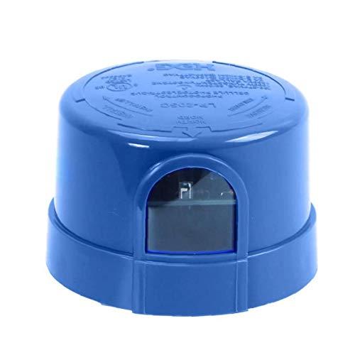 Ohomr Auto Sensor de fotocélula en el Interruptor del Sensor fotoeléctrico Off Jl-205c de Bloqueo Twist para Aumentar la Calle llevada Granero Aparcamiento Area del Lote Light Blue