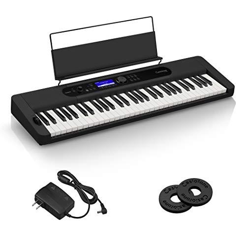 カシオ(CASIO)電子キーボード Casiotone CT-S400 (ブラック) タッチレスポンス付き61鍵標準鍵盤