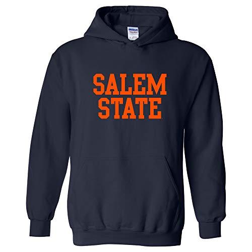 Moletom básico com capuz NCAA oficialmente licenciado – University Team Color Basic, Salem State Vikings azul-marinho, XL