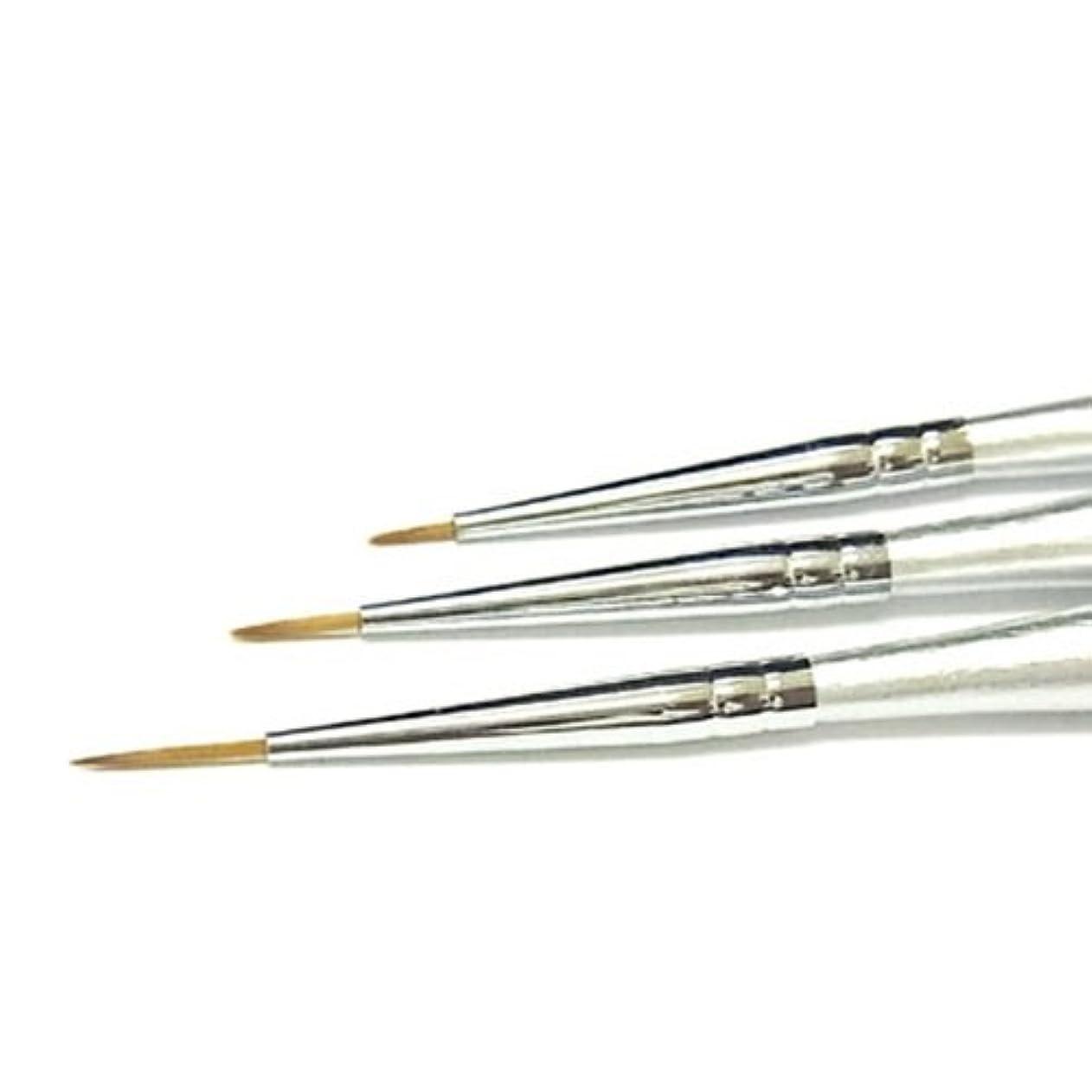ワードローブビュッフェアーチジェルネイル用 アートブラシ3種セット アートや細かな作業に便利?