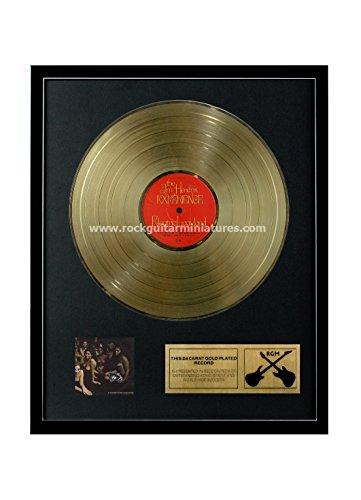 RGM1191 Jimi Hendrix Experience Electric Ladyland Gold überzogene 12 '' LP von Rock Guitar Miniatures