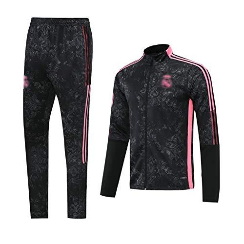 Jersey de fútbol 2021 Jersey de fútbol Rěǎl MǎDrǐD HǎZǎRD Chándal y Pantalones Conjunto Traje de Ropa Técnica Profesional Traje de Traje, Actividad al Aire Libre M