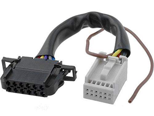 Cable Autoradio compatible avec changeur CD Quadlock 12pin vers 12pin compatible avec Audi VW 0.15m