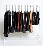 The Boot Rack-Short (35') Garment & Boot Rack - Fits in Most Closets (Includes 6 Boot Hangers) (The Boot Rack with 6 Gripz Hangers)