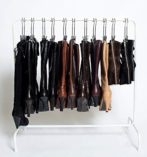 The Boot Rack-Short 35 Garment Boot Rack - Fits in Most Closets Includes 6 Boot Hangers The Boot Rack with 6 Gripz Hangers