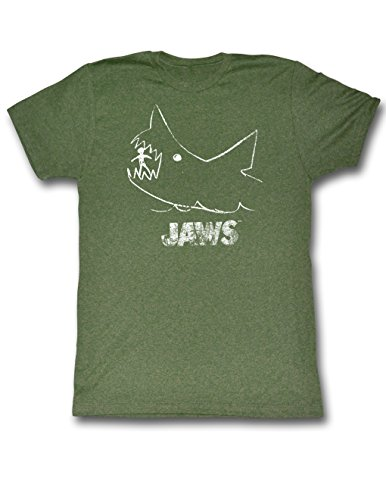 Official Jaws Store - Chalkboard Mens T-Shirt In Military Green -  M to XXL