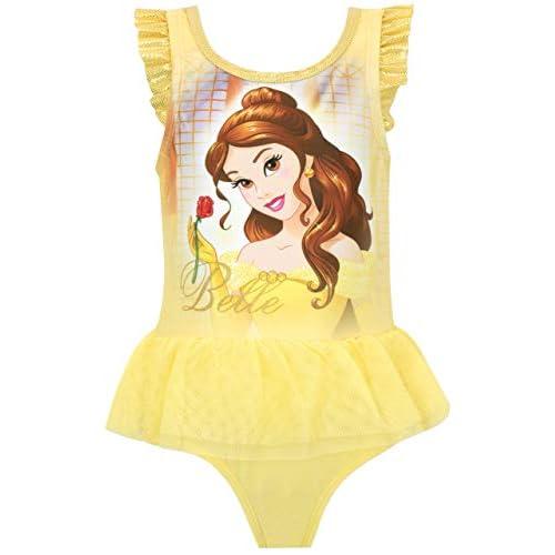 Disney Beauty and The Beast Costume da Bagno per Bambina (2-3 Anni, Giallo)