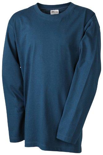 James & Nicholson Jungen Sport Pullover Langarmshirt Medium grün (petrol) Large
