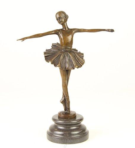 Bronzefigur Skulptur Motiv: Ballett Tänzerin auf Marmorsockel bronze Höhe 27 cm 1,7 kg