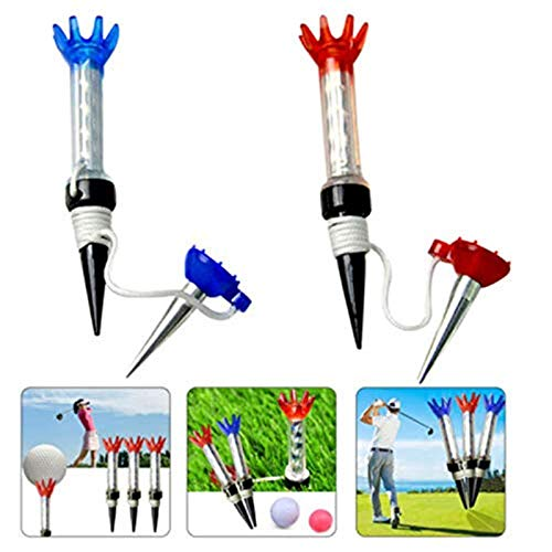 Jeantet Sport Golf Tees Plastic Step Down Magnetic 80mm Value 2 Pack Reusable Unbreakable Flexible Magnet Tee For Men Women Practice Training Color Blue Red 2 Pack1 Blue1Red