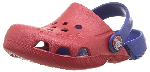 crocs Unisex-Kinder Electro Clogs, Rot (Pepper/Cerulean Blue), 19/20 EU