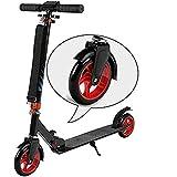 SCJ Micro Scooter de Aluminio para Adultos, Patinete Plegable fácil de Ajustar en Altura con Ruedas Grandes para Adolescentes Unisex @ B