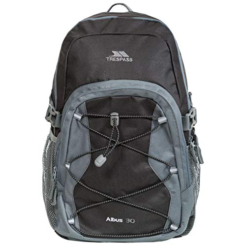 Trespass Waterproof Albus Unisex Outdoor Backpack (Ash)