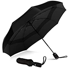"AUTOMATIC, COMPACT, AND LIGHTWEIGHT - Auto open close function allows for easy one-handed operation. Measuring just 11.5"" long and weighing less than 1lb the folding handheld umbrella is extremely packable in purses, briefcases, backpacks, luggage an..."