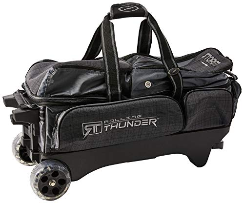 Storm 3 Ball Rolling Thunder Bowling Bag Plaid/Gray/Black Charcoal/Plaid/Black, 27' x 9 ' x 12'