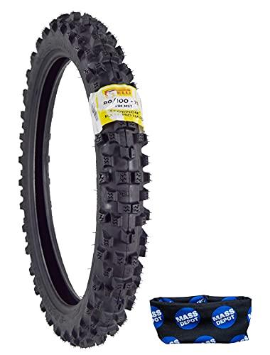 Pirelli Scorpion MX32 Mid Hard Dirt Bike 80/100-21 51M Motorcycle Tube Type Tire with Neck Gaiter