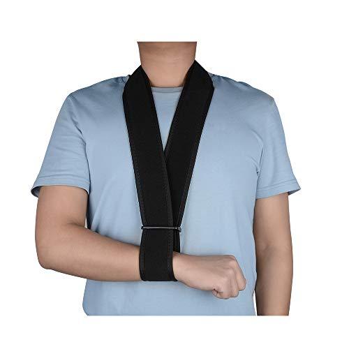 supregear Armschlinge, Leicht Halsstützkragen Wegfahrsperre Einfache Armschlaufe Atmungsaktive Schulterstütze für Verletzten Arm/Hand/Ellenbogen Arm Sling mit Innentaschen - Schwarz