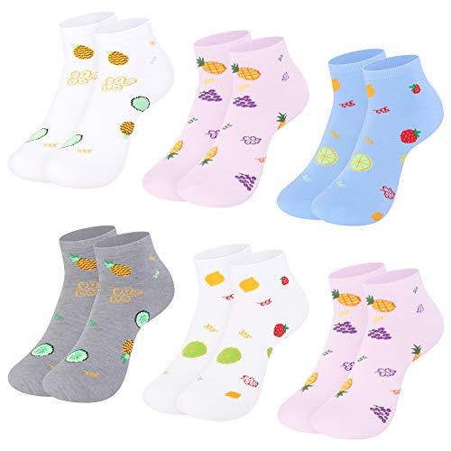 Libella Pack de 10 Calcetines para mujer Sneaker Cortos de algodón multicolor 2139 35/38