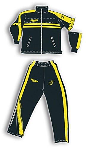 DragonSport Basketball Trainingsanzug DÜSSELDORF - div. Farben, Größe:XXL, Farbe:schwarz/gelb