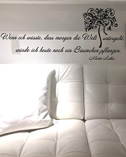 Wandtattoo-Wandaufkleber - Zitat v. Martin Luther ***Wenn ich wüsste.*** - (Größen.- und Farbauswahl)
