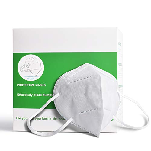 20 Pack Face Mask - 5 Layers Face Protection Masks Reusable, Dust-proof Adjustable Ear Loop for Adult
