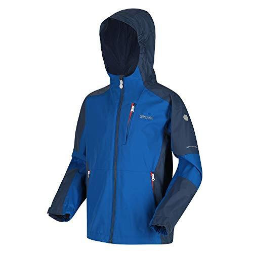 Chaqueta técnica Junior Calderdale II, impermeable, reflectante, con forro de malla, capucha y bolsillos con cremallera