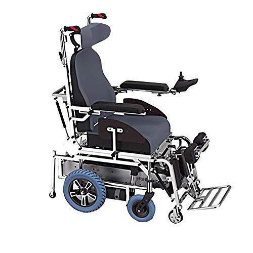 WYJW Intelligenter elektrischer Treppensteiger-Rollstuhl, Crawler 6-Rad-Drehstuhl, Treppensteigen/Stehen/Liegen, Doppelmotor 500W