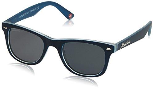 MONTANA MP41 Gafas, Multicolor (lentes azul marino/ahumado), Talla única Unisex Adulto